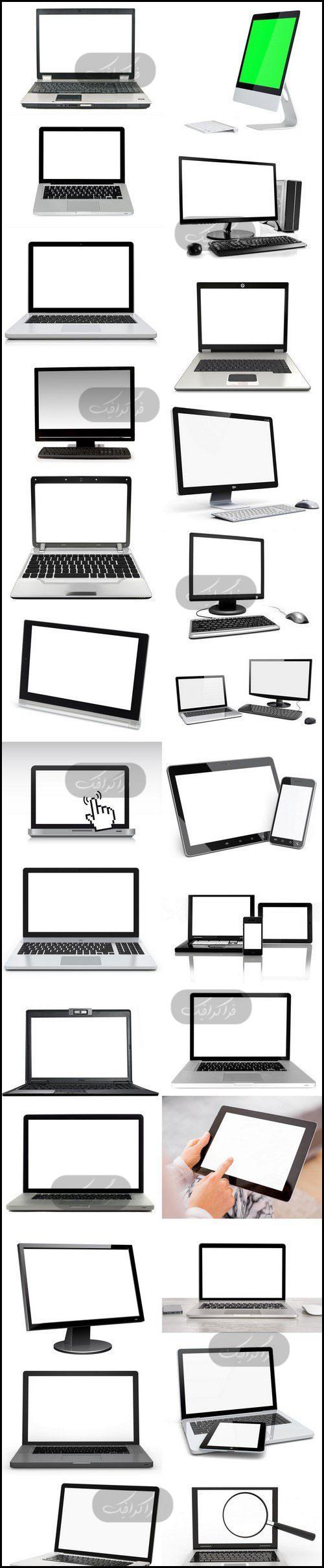 دانلود تصاویر استوک لپ تاپ با صفحه سفید