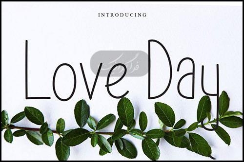 دانلود فونت انگلیسی نازک Love Day