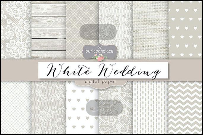 دانلود پترن های سفید کارت عروسی