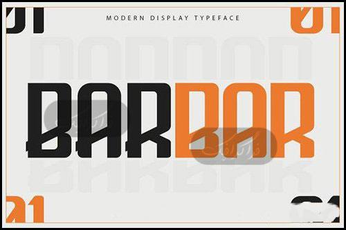دانلود فونت انگلیسی گرافیکی Barbar