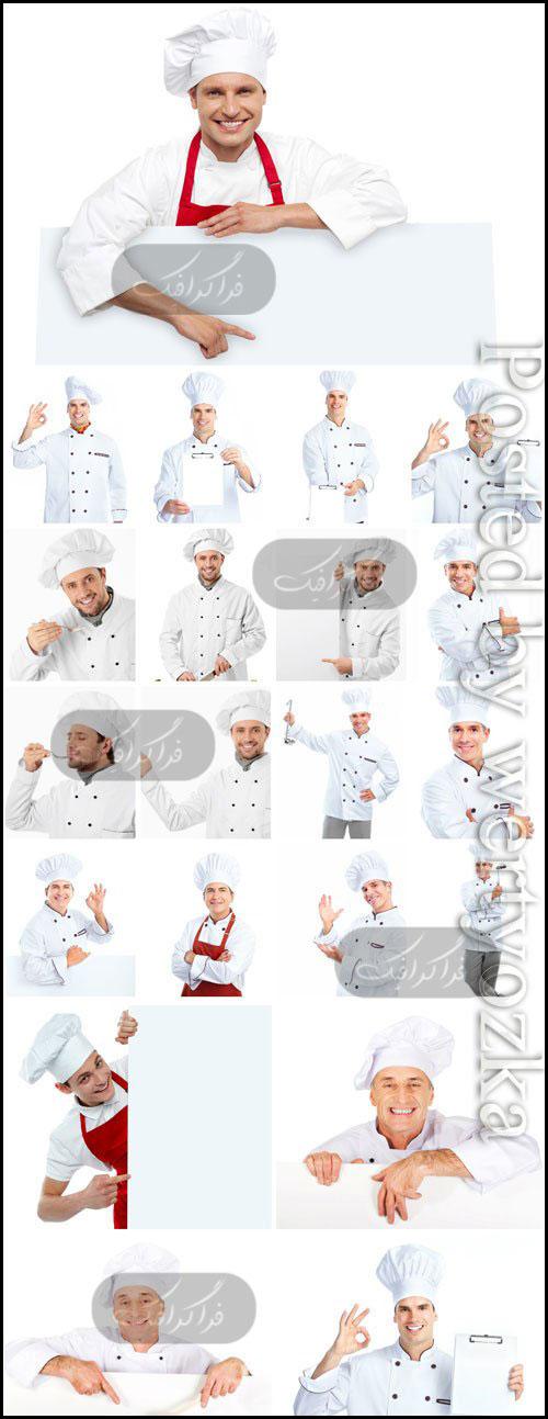 دانلود تصاویر استوک آشپز با منوی خالی