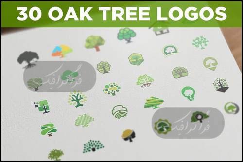 دانلود لوگو های درخت بلوط - Oak Tree