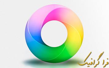 آموزش فتوشاپ ساخت حلقه طیف رنگ