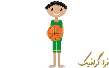 آموزش ایلوستریتور ساخت بازیکن بسکتبال