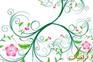 وکتور گلدار Floral – شماره 2