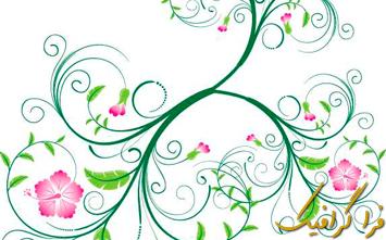وکتور گلدار Floral - شماره 2