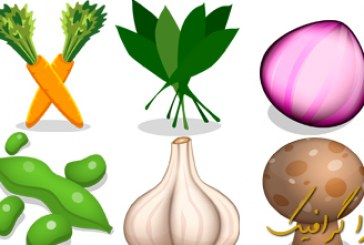 دانلود آیکون سبزیجات