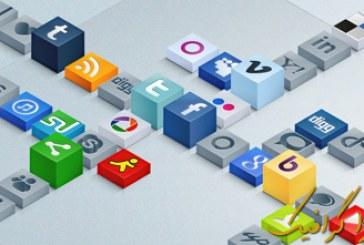 دانلود آیکون های سه بعدی شبکه اجتماعی