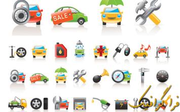 دانلود آیکون های قطعات اتومبیل