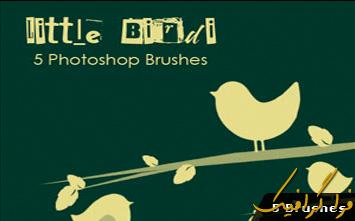 دانلود براش فتوشاپ پرندگان کوچک