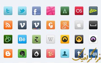دانلود آیکون سایت های شبکه اجتماعی