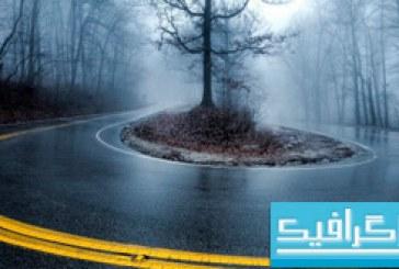 دانلود والپیپر جاده مه آلود