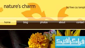 دانلود قالب وب سایت nature charm