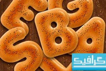 آموزش فتوشاپ ساخت افکت متن نان حلقوی