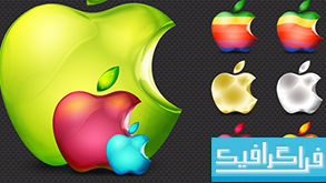 دانلود آیکون اَپل در رنگ های مختلف