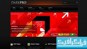 دانلود قالب وب سایت Dark Pro
