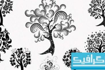 دانلود براش فتوشاپ درخت تزئینی