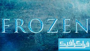 آموزش فتوشاپ ساخت افکت متن یخ زده