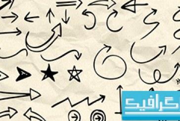دانلود براش فتوشاپ اشکال رسم شده