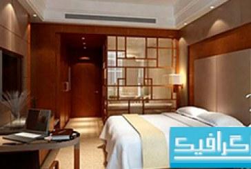 مدل سه بعدی اتاق هتل