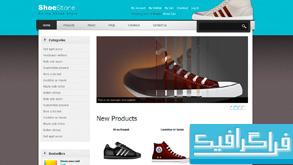 دانلود قالب وب سایت فروشگاه کفش ورزشی