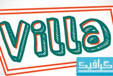 دانلود فونت انگلیسی Villa
