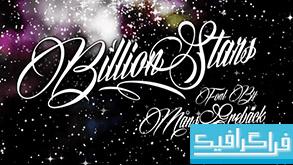 دانلود فونت انگلیسی Billion Stars