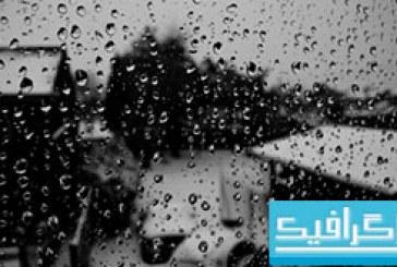 دانلود والپیپر قطرات باران Black Drops