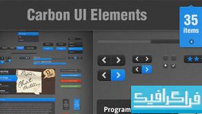 فایل لایه باز عناصر صفحه وب Carbon