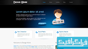 دانلود قالب وب سایت Design Work