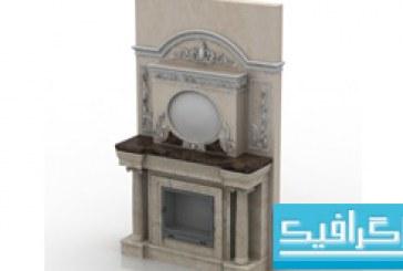 مدل سه بعدی شومینه