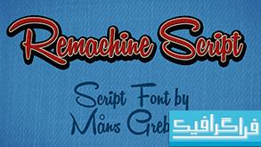 دانلود فونت انگلیسی Remachine Script
