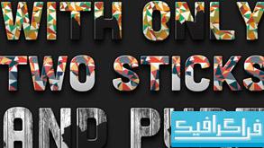 دانلود استایل های متنی شکسته شده فتوشاپ