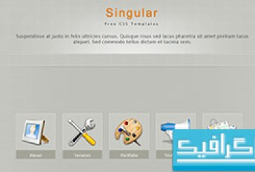 دانلود قالب وب سایت Singular