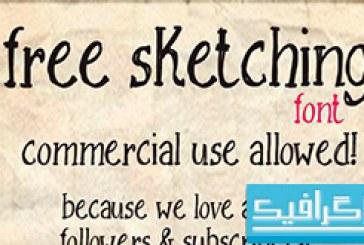 دانلود فونت انگلیسی Sketching