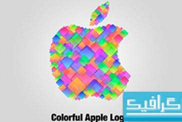 آموزش فتوشاپ ساخت لوگو اپل-طرح مربع های رنگی