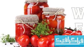 دانلود تصاویر استوک گوجه و رب گوجه