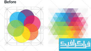 دانلود اکشن فتوشاپ تغییر عکس به حالت موزاییک مثلثی