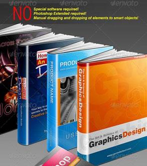 اکشن فتوشاپ ساخت جلد کتاب سه بعدی