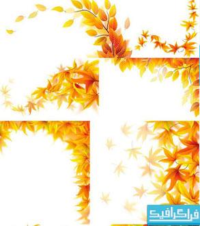 وکتور برگ های پاییزی