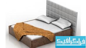 مدل سه بعدی تختخواب - شماره 2