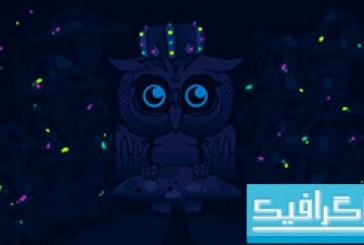 دانلود والپیپر جغد Imagine Blue Owls