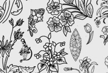 دانلود براش فتوشاپ گل های تزئینی – شماره 2