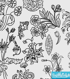دانلود براش فتوشاپ گل های تزئینی - شماره 2