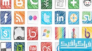 دانلود آیکون سایت های شبکه اجتماعی - طرح گرانج