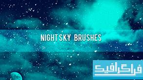 دانلود براش های فتوشاپ آسمان شب