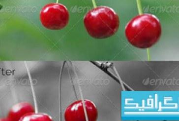 اکشن فتوشاپ انتخاب قسمتی از رنگ تصویر