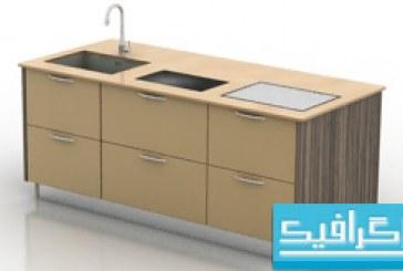 مدل سه بعدی ظرفشویی