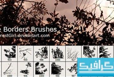 دانلود براش های فتوشاپ حاشیه – طرح درخت