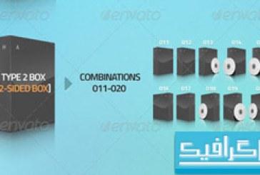 اکشن فتوشاپ ساخت برچسب و جعبه CD